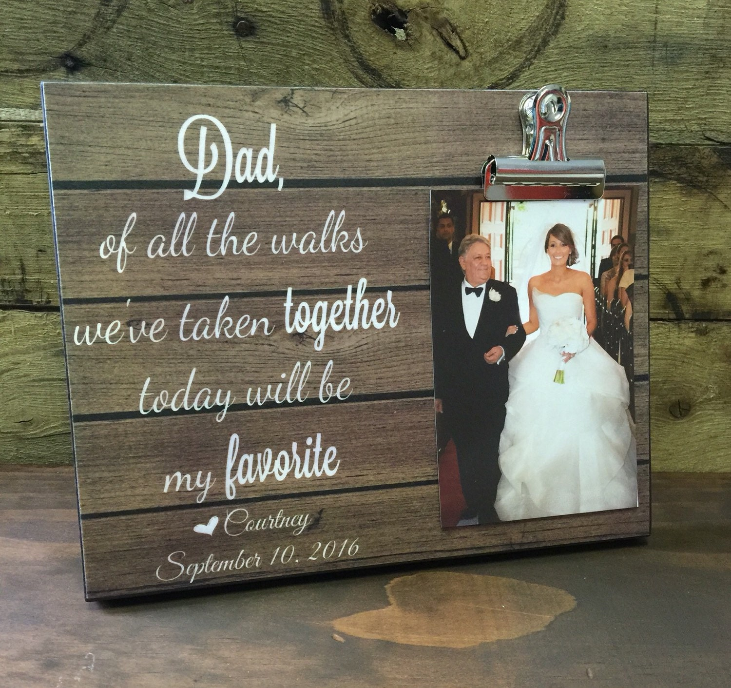 Personalized Wedding Gift Dad Of All The Walks Father Of The