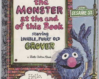 The Monster at the End of This Book / Sesame Street / Little Golden Book / By Jon Stone / Illus by Mike Smollin / Two Books Available