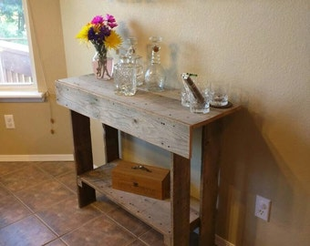 Reclaimed Oak Entry Way / Console Table