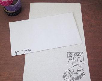 Sassy Hedgehog Stationery Set