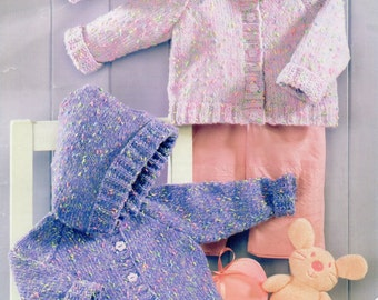 baby jackets and hat dk knitting pattern 99p pdf