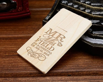 Custom Wooden USB Flash Drive, Personalized Wedding Gift, Bridesmaid Gift, Personalized Wooden USB, Wood USB Drive