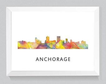 Anchorage, Alaska Skyline WB1
