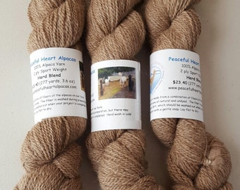 Alpaca Yarn from a Blend of Our Herd, 3.6 oz, 277 yards