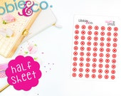 Libbie's Littles Red Bullseye Life Planner Die-Cut Stickers!  Perfect for Erin Condren, Happy, Mambi, Plum Paper and Personal Planners! LL66