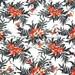 mi762 - 1 Yard Cotton Jacquard Fabric - Micky Mouse, Hawaii, Hawaiian - White (W140)