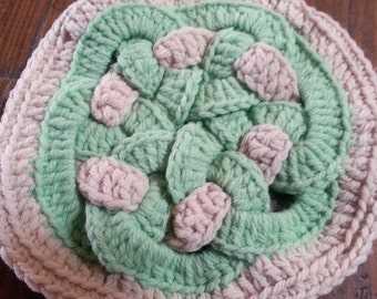 Vintage crochet trivet hot pad