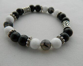 Black & White Onyx Bracelet
