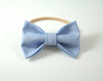 Light Blue Headband. Light Blue Baby Bow. Baby Hair Bow. Baby Photo Prop. Baby Headband. Newborn Headband. Toddler Hair Bow. Light Blue Bow.