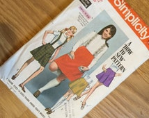 Simplicity Vintage Pattern - A How To Sew Pattern - Teen Skirt
