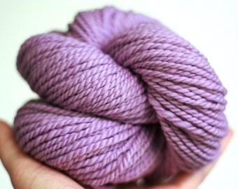 "Handspun Yarn - ""Violet Eyes"" - Merino Wool Yarn - Bulky Yarn - Felicity Yarn"