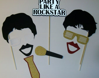Rock Star Photo Props / Party On! / Guitars / Microphone / Speakers / Party Like a Rock Star (2157D)