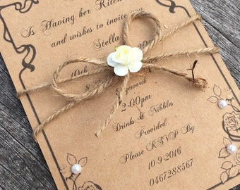 Kitchen Tea Invitations x80