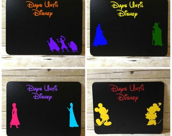 Disney Countdown Chalkboard Mickey Disney World Disneyland Calendar