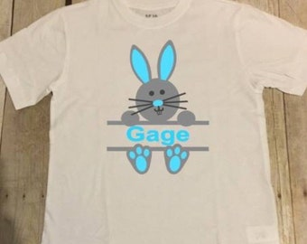 Boys Easter shirt personalized / Bunny Shirt / easter bunny tee