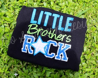Little Boys Rock Embroidered Appliqué Shirt OR Onesie