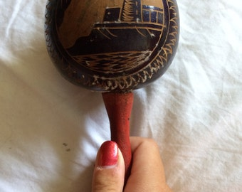 Antique lighthouse maraca