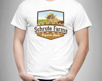 Schrute Farms - The Office / Dwight Schrute Inspired Men's T Shirt - White