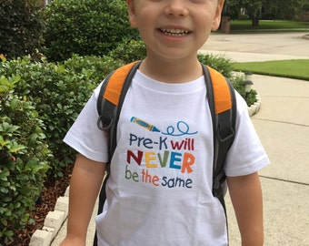 Personalized School Shirt - Pre-K Shirt - Back To School Shirt - First Day Of Preschool - Preschool Shirt For Kids - Kindergarten Shirt
