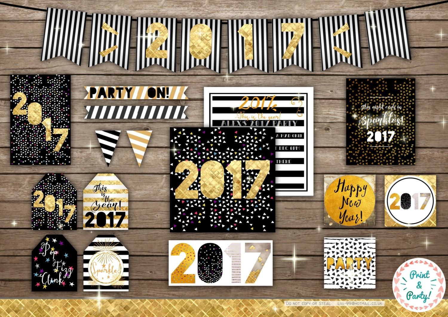 2017 New Years Party Decorations Printable Home Decor