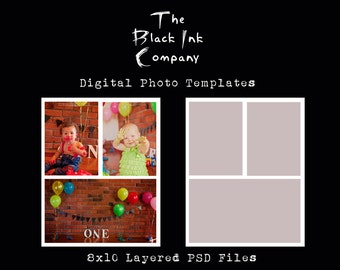 8 x 10 Collage Template #3