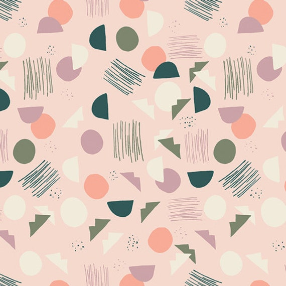 Organic Changing Pad Cover >> Hello Ollie Village Tundra in Green >> READY-to-SHIP pale blush pink geometric change pad, lilac changing pad