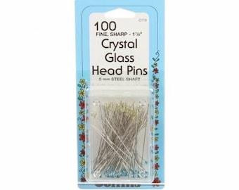 Crystal Glass Head Pins