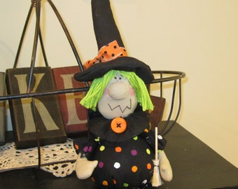Halloween Decoration - Witch Decoration - Holiday Decoration - Witch Doll