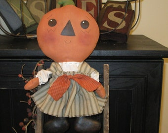 Pumpkin Doll - Fall Decoration - Autumn Decoration - Pumpkin