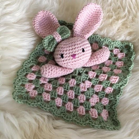 Baby rabbit security blanket crochet pattern Conforting