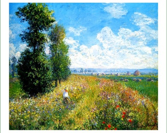 fabric panel - painting by Claude Monet (13)