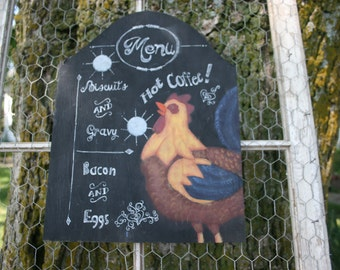 "Chicken ""Menu"" sign"