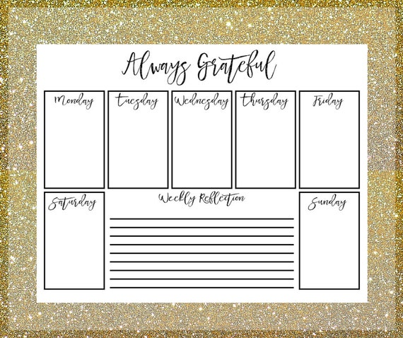 Daily Planner Printable Daily Gratitude by BalancedRemnants