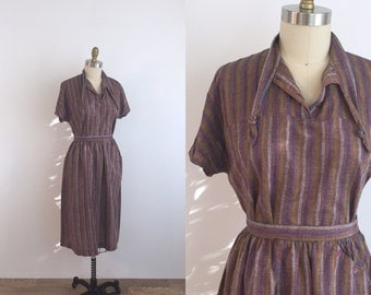 1970s Ethnic Striped Skirt Set | small/medium