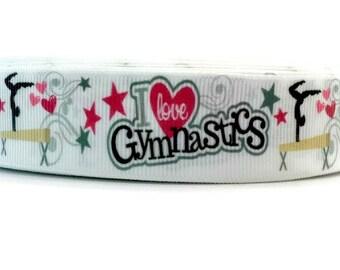 Gymnastic Ribbon, Gymnastic Grosgrain, Gymnast Ribbon, Gymnast Grosgrain, Tumbling Ribbon, Tumbling Grosgrain, Sport Ribbon, Sport Grosgrain