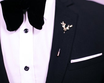 Deer-head metal Boutonniere Tuxedo Wedding Casual Lapel Pin
