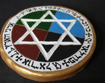 Golden Dawn Style Pentacle | Earth Pentacle | Disk of Earth