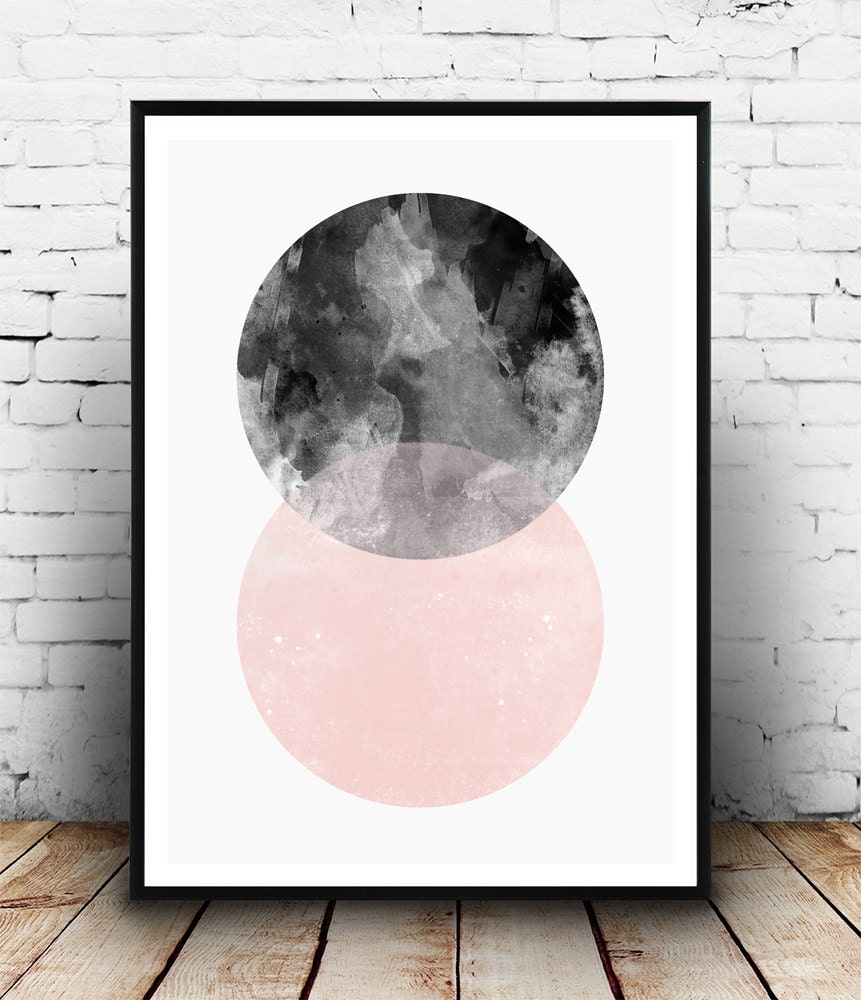 Geometric poster abstract wall print minimalist art for Minimal art wall