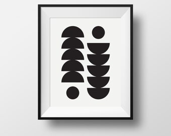 Wall print, art, équilibre,scandinavian, black and white, frame, ikea, ribba