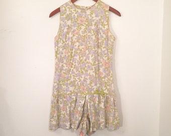 Women's Vintage 60s Floral Day Dress