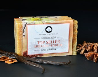 Top Seller Handcrafted Soap, Organic and Natural Ingredients, Cold Process Soap