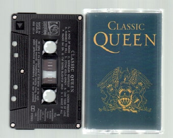 Vintage Cassette Tape : Cassette Tape - Queen - Classic Queen A&M HR6-13114