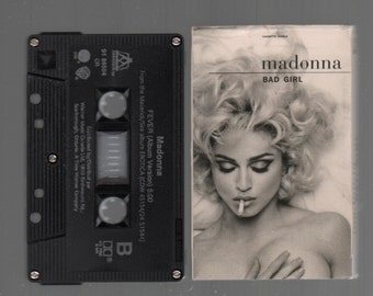Vintage Cassette Tape : Cassette Single - Madonna - Bad Girl / Fever 91-86504