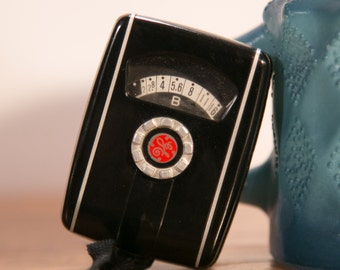 GE Mascot II Light Meter with Leather Case - Functional!