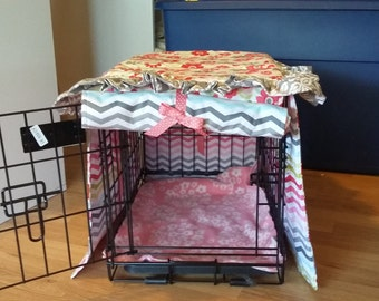 Floral Pet Crate Cover