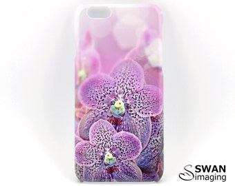 Purple Spotted Orchids Phone Case ~ iPhone 7, 7 Plus, SE, 5/5S, 5C, 6/6S, 6/6S Plus + Samsung Galaxy S8, S8 Plus, S5, S6, S7, Note 2/3/4/5