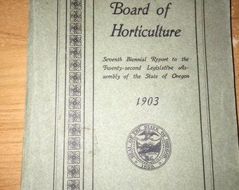 Board of Horticulture 1903 Book - Oregon