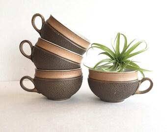 Vintage Denby-Langley Cotswold Flat Cups Set of 4