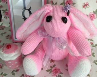 Love Bunnies, Stuffed Toy, Knitted Toy, Bunny