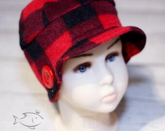 Red lumberjack bucket hat / bucket hat / child hat / red lumberjack print / lumberjack soft cap / lumberjack winter hat
